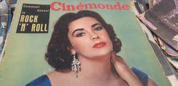 CINEMONDE 56/ELIZABETH TAYLOR /FERNANDEL/BOURVIL GABIN /KERVINE BRETONNIERE ROCK /MARTINE CAROL /CLAUDINE DUPUIS - Cinema