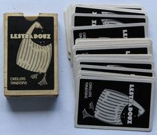 Jeu De 32 Cartes Ancien Publicitaire Belote Piquet Manille Lestradoux Oreillers Traversins Oie Lestra Amboise - 32 Karten