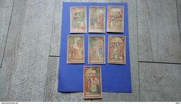 Lot 7 Chromos Images Religieuses Saint Antoine Grottes De Brive Religion Série - Imágenes Religiosas