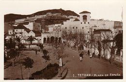TETUAN (Tétouan - Maroc) - Plaza De Espana - Cpa De Luxe Rare - Type Photo - Non écrite - TBE - Autres