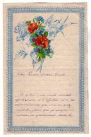 VP17.248 - 1891 - Lettre Illustrée Double Page & Découpi Fleurs - Melle Marie HODEE à PELLOUAILLES - Fiori