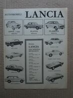 - ADVERTISING PUBBLICITA' AUTOMOBILI LANCIA APPIA / FLAVIA / FLAMINIA  - 1961 - Reclame