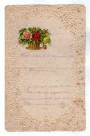 VP17.252 - 1889 - Lettre Illustrée Papier Dentelle Double Page & Découpi Fleurs  - Melle Marie HODEE à PELLOUAILLES - Fiori