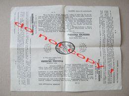 """"""" KALHIDOR """" - Za Njegu Lica I Kože / Production Zagreb, Kingdom Of Yugoslavia - For Hairdressing Shops, After Shave ... - Reclame"""