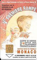 CARTE-PUBLIC-MONACO-50U-MF26-GemA-5e RAMPE Du CIRQUE-Série A-Utilisé-TBE- - Monace