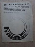 - ADVERTISING PUBBLICITA'  PIRELLI PER LA VOSTRA SICUREZZA  - 1961 - Reclame