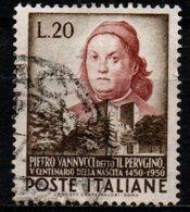 Italia Repubblica 1951 - Pietro Vannucci, Detto Il Perugino - 20 Lire Usato - 1946-60: Usati