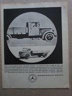- ADVERTISING PUBBLICITA' AUTOCARRI MERCEDES BENZ - 1961 - Reclame