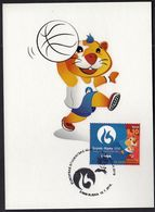 Croatia Zagreb 2016 / Basketball 3x3 / European Universities Games / Mascot HRKI / MC / Sport - Basketball