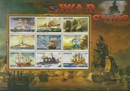 Grenada 1996 Schiffe Kriegsschiffe Kleinbogen 3216/24 K Postfrisch (C95659) - Grenada (1974-...)