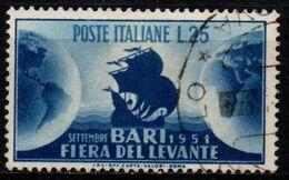 Italia Repubblica 1951 - 15ª Fiera Del Levante - 25 Lire Usato - 1946-60: Usati