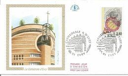 Cathédrale D'Evry 1er Jour - 1990-1999