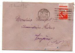 """1945--Lettre De RENNES- 35 Pour Fougères-35--type """"Aidez Les Tuberculeux""""---cachet Mécanique - 1921-1960: Modern Period"""