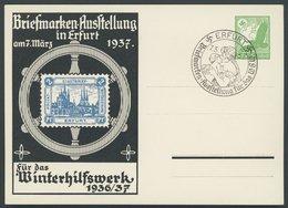 GANZSACHEN PP 142C9/01 BRIEF, Privatpost: 1947, 5 Pf. Erste Postwertzeichen-Werbeschau, Stadtpostmarke 2 Pf. Blau, Sonde - Postwaardestukken
