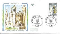 Basilique Notre Dame De Fourvière Lyon 1er Jour - 1990-1999