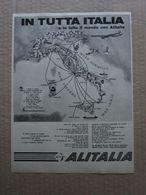 - ADVERTISING PUBBLICITA'  ALITALIA IN TUTTO IL MONDO - 1961 - Reclame