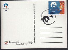 Croatia Rijeka 2016 / Basketball 3x3 / European Universities Games EUSA / Mascot HRKI / Sport - Basketball