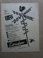 - ADVERTISING PUBBLICITA'  RADIO TRANSISTOR CONDOR - 1961 - Reclame