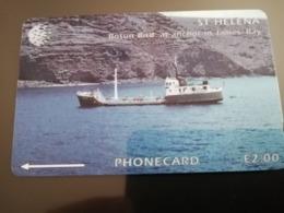 ST . HELENA  GPT Bosun Bird At Anchor In James Bay  5CSHD  2 POUND MINT New  Logo C&W **2934** - Sainte-Hélène