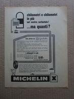 - ADVERTISING PUBBLICITA' MICHELIN X - 1961 - Reclame