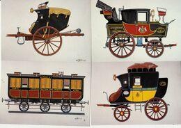 Musee D'histoire Des PTT D'Alsace Riquewihr-:Lot De 3 Malles:1805-1818-1837+  Wagon De 1852 - Postal Services