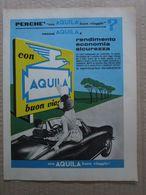- ADVERTISING PUBBLICITA' CARBURANTI AQUILA ( CON ALFA ROMEO) - 1961 - Reclame