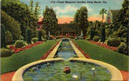 Florida Palm Beach Cluett Memorial Garden Curteich - Palm Beach