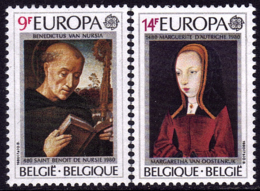 Belgique - Europa CEPT 1980 - Yvert Nr. 1970/1971 - Michel Nr. 2023/2024  ** - 1980
