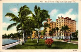 Florida West Palm Beach The Royal Worth Hotel 1935 Curteich - West Palm Beach