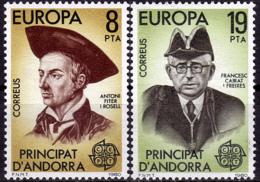 Andorre Espagnol - Europa CEPT 1980 - Yvert Nr. 124/125 - Michel Nr. 131/132  ** - 1980