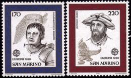 Saint Marin - Europa CEPT 1980 - Yvert Nr. 1011/1012 - Michel Nr. 1212/1213  ** - 1980