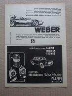 - ADVERTISING PUBBLICITA' WEBER CARBURATORI - FERRARI / FIAMM  - 1961 - Reclame