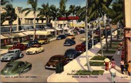 Florida Miami Beach Lincoln Road Exclusive Shopping Center Curteich - Miami Beach