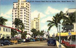 Florida Miami Beach Famous Hotel Row On Collins Avenue Curteich - Miami Beach