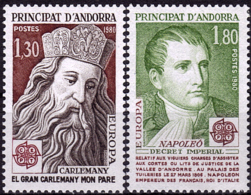 Andorre Français - Europa CEPT 1980 - Yvert Nr. 284/285 - Michel Nr. 305/306  ** - 1980