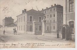 CPA Précurseur Beaune - Quartier De Cavalerie (avec Petite Animation) - Beaune