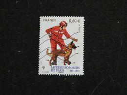 FRANCE YT 4585 OBLITERE - SAPEURS POMPIERS DE PARIS - POMPIER AVEC CHIEN DOG HUND - Oblitérés