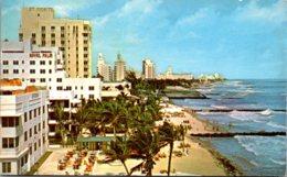 Florida Miami Beach Birds Eye View Of Hotels 1954 - Miami Beach