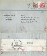 """Zensur Brief  """"Messmer Broderies, St.Gallen"""" - Berlin            1942 - Briefe U. Dokumente"""