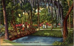 Florida Orlando Sanlando Springs Florida's Fairyland 1953 - Orlando