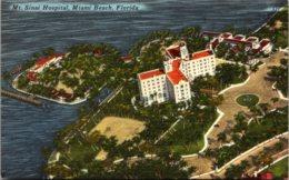 Florida Miami Beach Aerial View Mount Sinai Hospital 1953 - Miami Beach