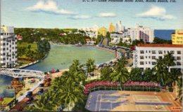 Florida Miami Beach Lake Pancoast Hotel Area 1945 Curteich - Miami Beach