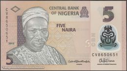 TWN - NIGERIA 38f - 5 Naira 2015 Polymer - Prefix CV UNC - Nigeria