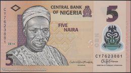 TWN - NIGERIA 38g - 5 Naira 2016 Polymer - Prefix CY UNC - Nigeria
