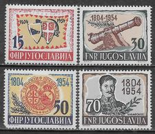 Yugoslavia 1954 Serbian Uprising 150th Anniversary Mi N.751-754 Complete Set MH * - Neufs