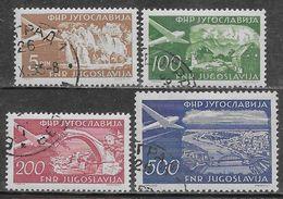 Yugoslavia 1951 Airmail, Tourism Mi N.689-692 Complete Set US - Poste Aérienne