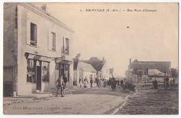 (28) 509, Sainville, Legendre 2, Rue Porte D'Etampes (Epicerie Café), Cachet Militaire, Voyagée En 1917 (FM), Bon état - Other Municipalities