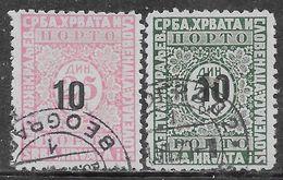 Yugoslavia 1928 Postage Due Mi N.P62-P63 Complete Set US - Postage Due