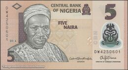 TWN - NIGERIA 38g - 5 Naira 2016 Polymer - Prefix DW UNC - Nigeria