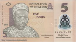 TWN - NIGERIA 38i - 5 Naira 2018 Polymer - Prefix DQ UNC - Nigeria